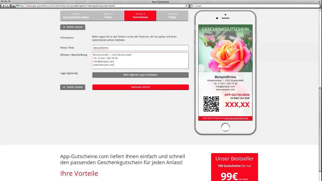 APP-GUTSCHEINE ERSTELLEN - YouTube