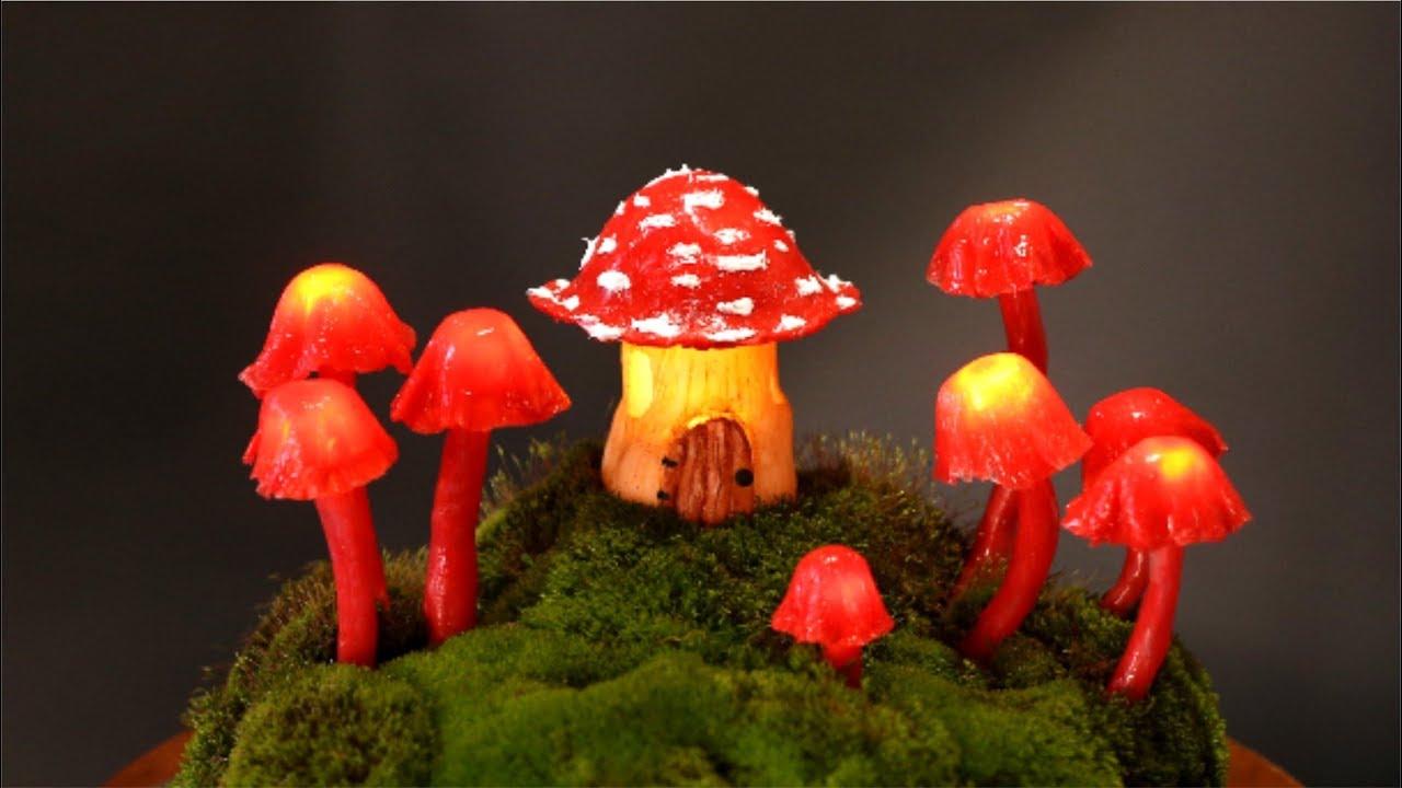 Diy Fairy Garden Mushroom Lights Youtube