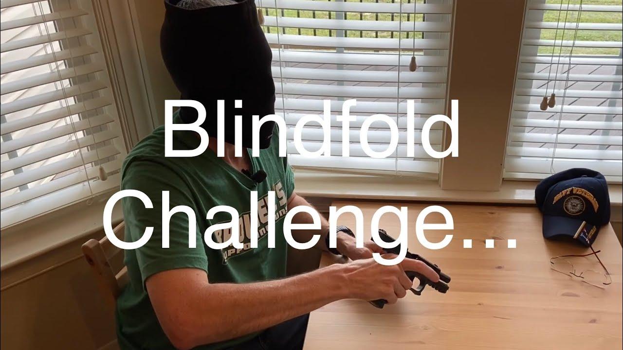 Blindfold Challenge... #BlindfoldChallenge #EDC #2AStrong