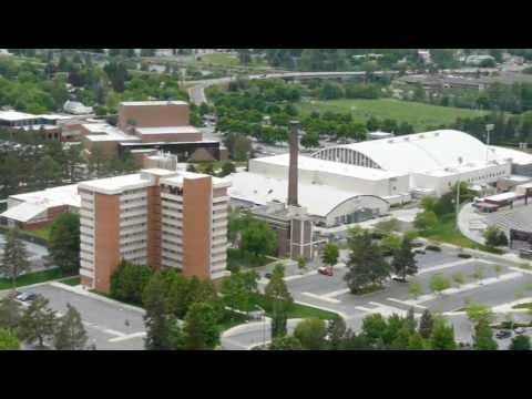 University of Montana Missoula campus from Mount Sentinel.MOV