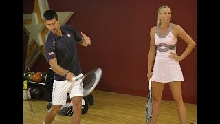 Tenis Oyununda Komik Anlar 2. (Djokovic vs Sharapova) Video