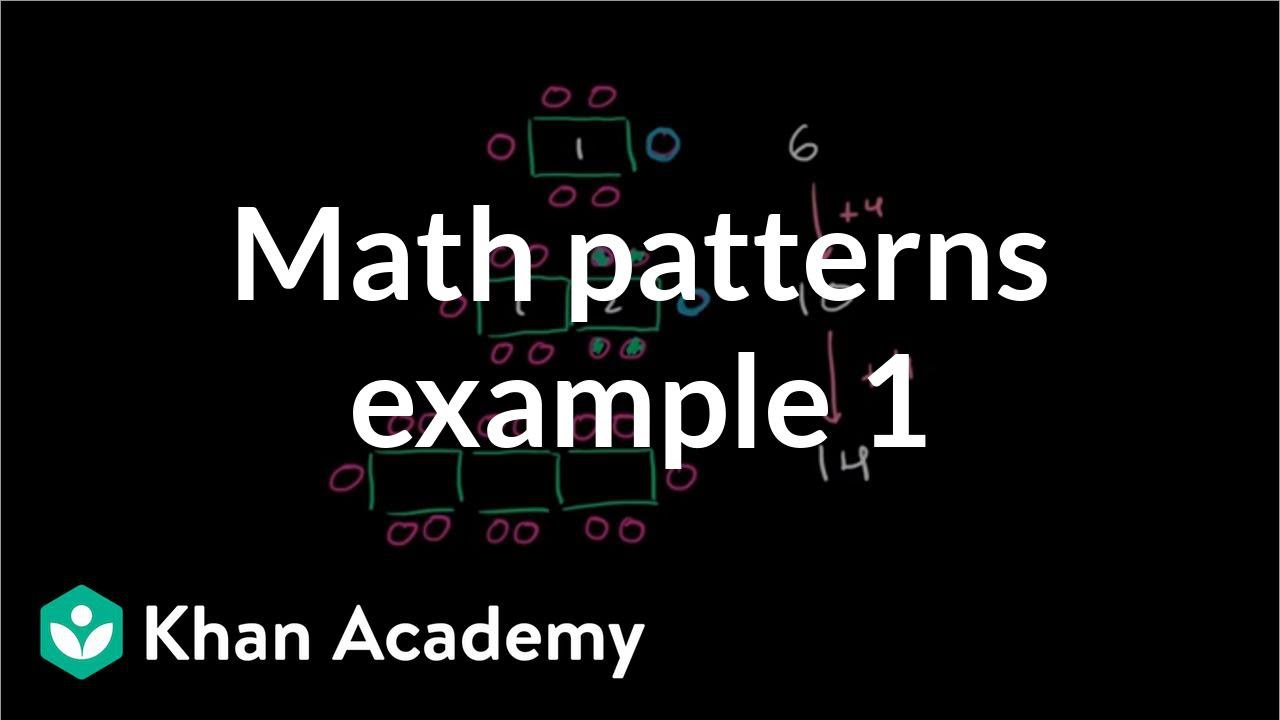 Math patterns: table (video) | Khan Academy
