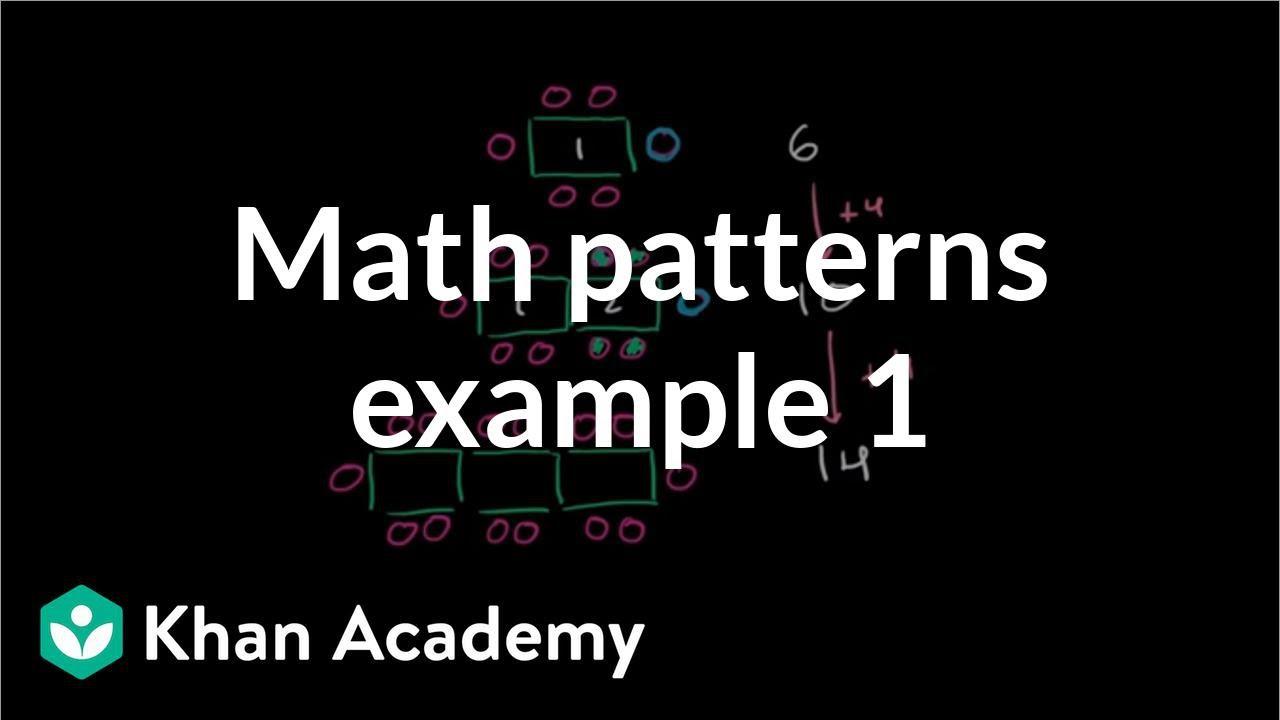 Math patterns: table (video)   Khan Academy [ 720 x 1280 Pixel ]