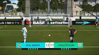 REAL MADRID vs ATHLETIC BILBAO | Penalty Shootout | PES 2018 Gameplay PC