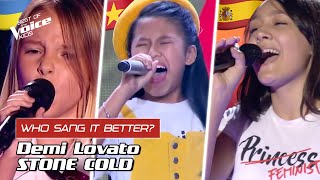 """In this week's """"who sang it better?"""": demi lovato - stone cold. the song remains an all-time favorite to our voice kids talents. who best and is your..."""