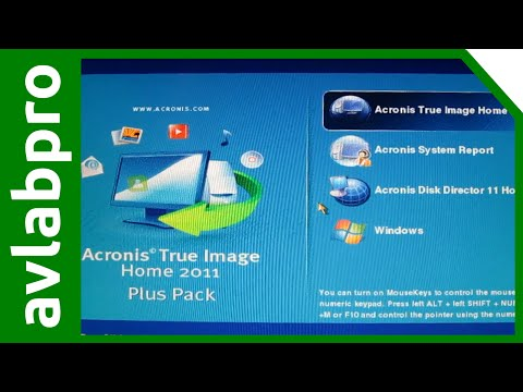 Make System Image with Acronis Live CD