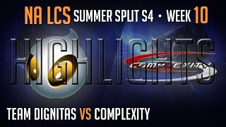 LCS Highlights Dignitas vs Complexity Week 10 Day 2 NA Summer 2014 DIG vs COL S4 W10D2G4 Season 4