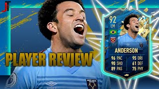 FIFA 20 TOTSSF FELIPE ANDERSON 92 PLAYER REVIEW