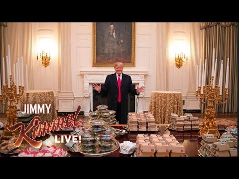"Trump Eats ""Hamberders� While Government Remains Shut Down"
