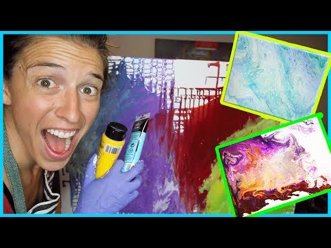 Trying Acrylic Pouring!