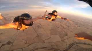 Skydiving naked 100th nude jump