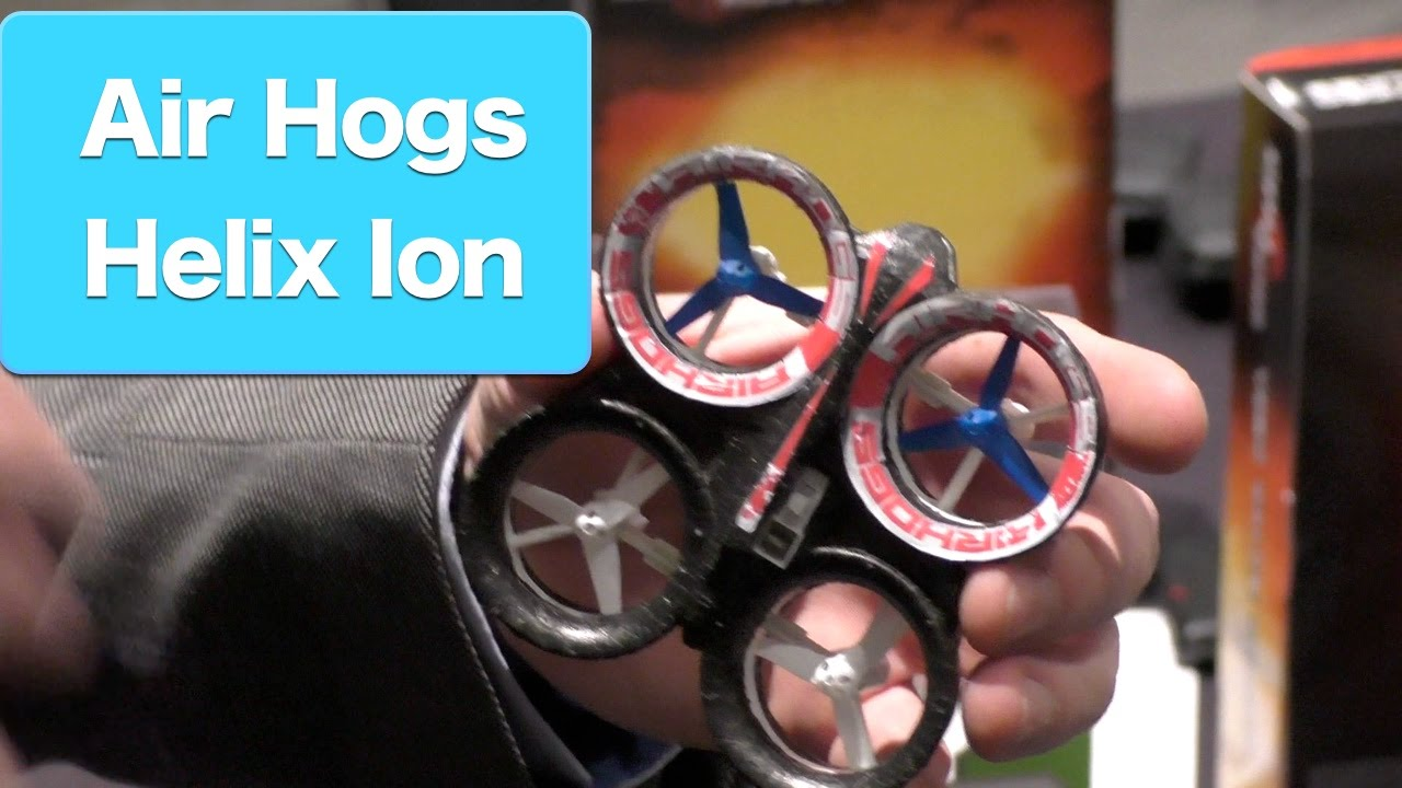 Air Hogs Helix Ion RC Stunt Mini Quadcopter First Look Toy Fair 2015