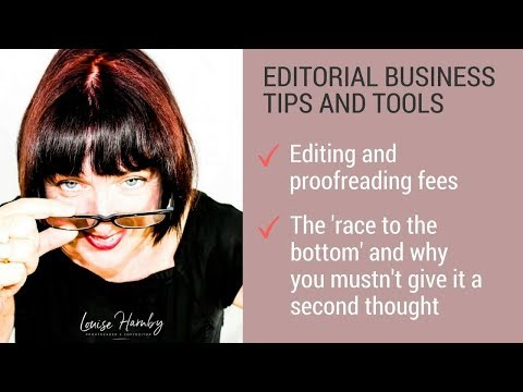 Editors and proofreaders: Forget the 'race to the bottom'. Just be compelling
