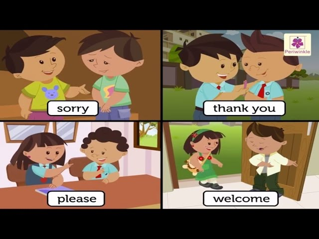 Learn Good Manners For Kids | Sorry, Please, Thank you - The Magic Words | Periwinkle