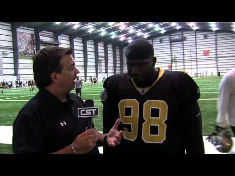 Richey on Sports 1-on-1 w/Sedrick Ellis at Saints Training Camp