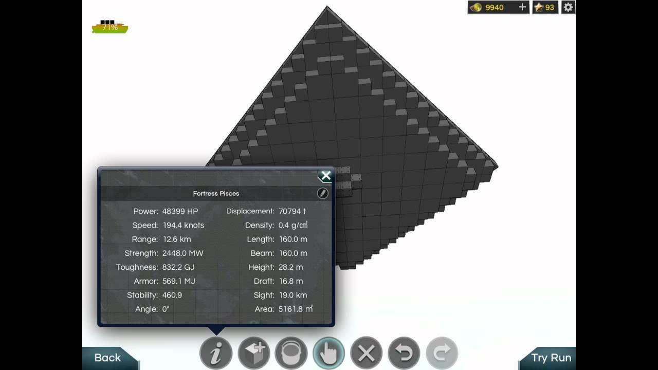 Battleship Craft - Fortress Speed Tweak! Now in HD!