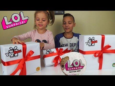 ПОСЫЛКА от YouBox LOL Куклы ЛОЛ РАСПАКОВКА подарков L.O.L Dolls Surprise Сюрприз БОКС