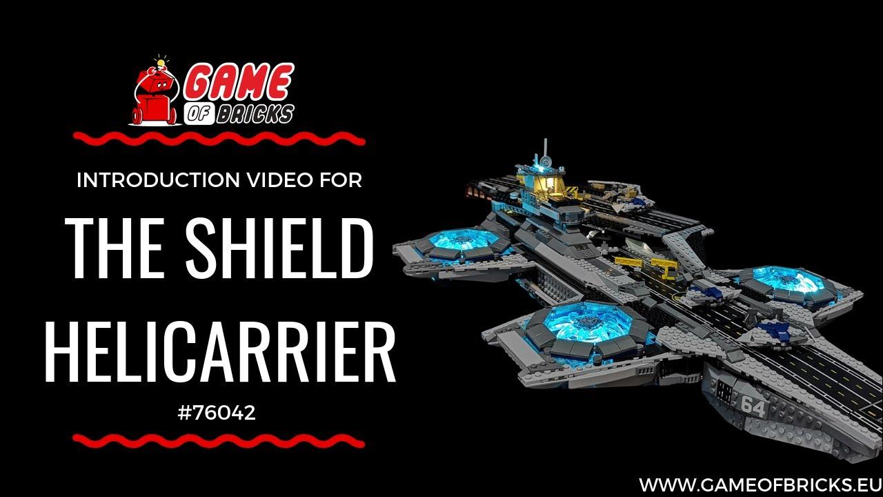 Led PropellerLight Kit for lego 76042 the Marvel Super Heroes Shield Helicarrier