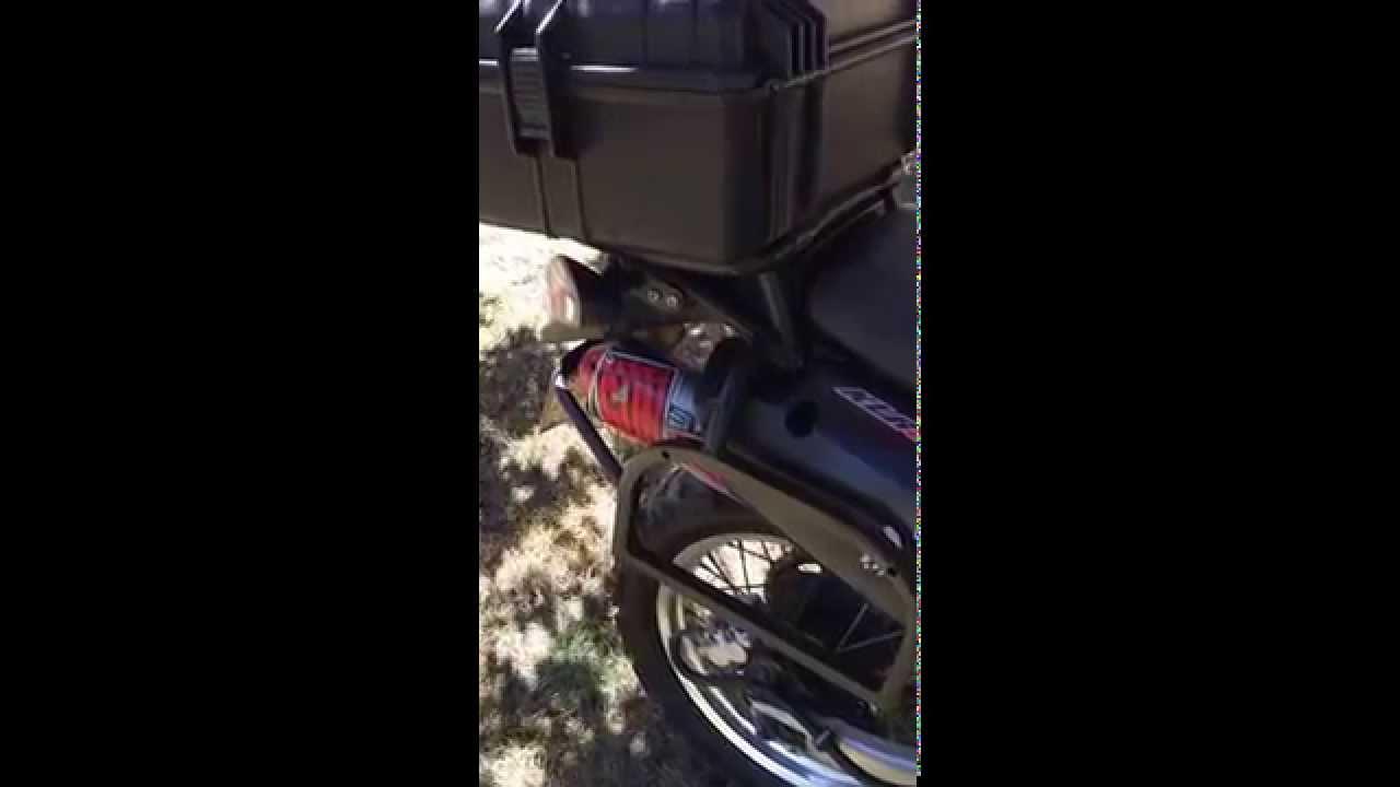 KLR Big Gun Exhaust - YouTube
