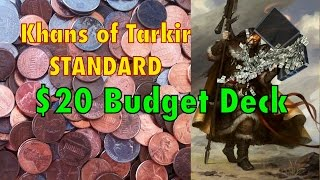 Mtg - Where To Start In Standard? The $20 Hero Of Khans Of Tarkir Budget Deck! Magic: The Gathering