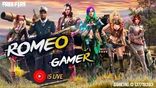 Free fire live || Full Rush Rank Gameplay || Global player Romeo Gamer🔴🇮🇳