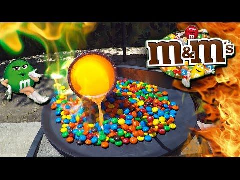 Molten Copper vs M&M's Candy