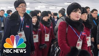 North Korean Athletes Arrive For PyeongChang Olympics | NBC News