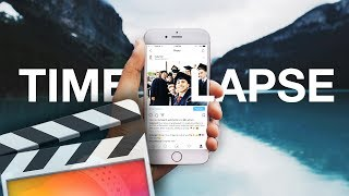 How To Make An iPhone Instagram Timelapse - Final Cut Pro X