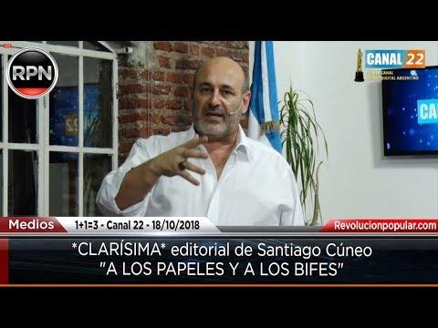 """*CLARÍSIMA* editorial de Santiago Cúneo """"A LOS PAPELES Y A LOS BIFES"""""""