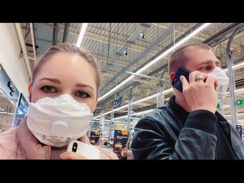 Ходим в масках   Едем в гипермаркет закупать продукты   Пустой магазин