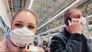 Ходим в масках | Едем в гипермаркет закупать продукты | Пустой магазин
