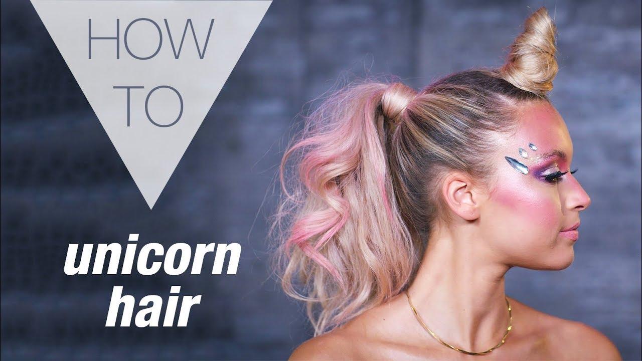 UNICORN  HALLOWEEN  HOW TO HAIR TUTORIAL