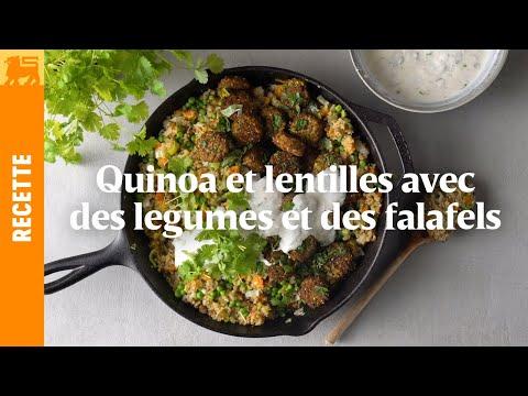 Falafels au quinoa, lentilles et légumes