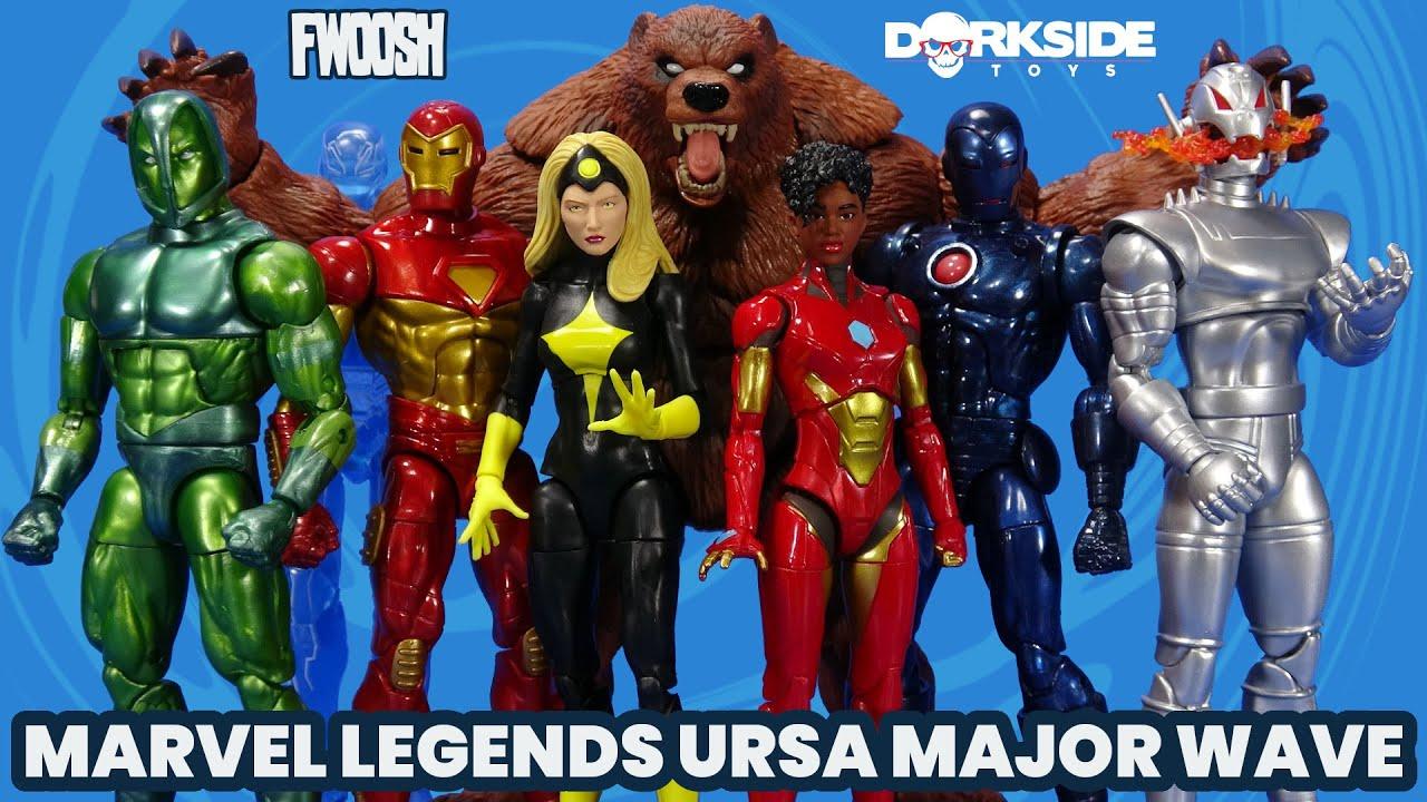 Marvel Legends Ursa Major Wave Iron Man, Ultron, Darkstar, Ironheart, Guardsman, Hasbro Overview