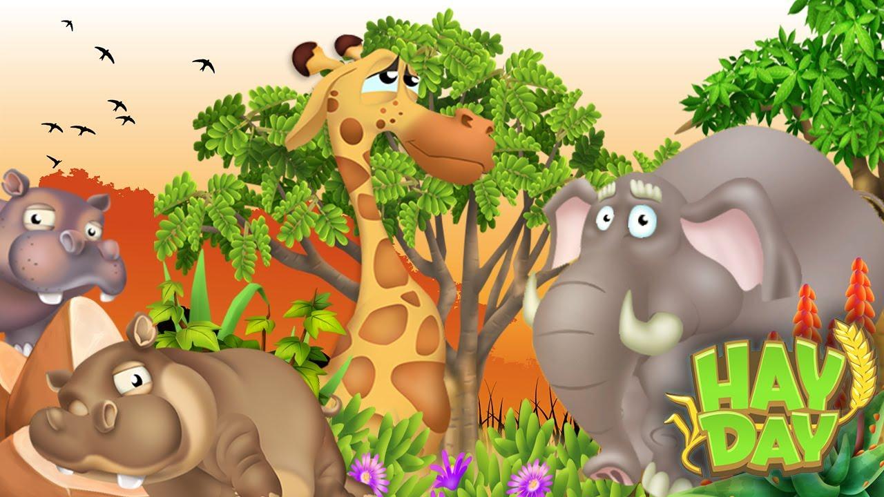 safari dans la réserve animalière hay day ! - youtube