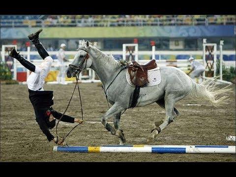 Самые ЖЕСТКИЕ и ОПАСНЫЕ падения с лошади, ТОП 20 (the best falls from a horse).
