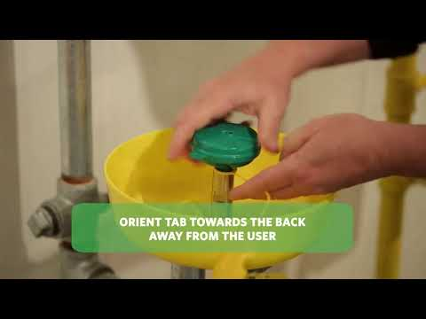 assembly method of eye wash and shower