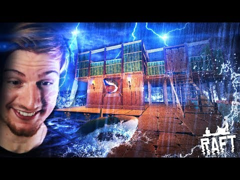 GUYS.. WE HAVE A HOUSE ON THE RAFT. (And it's awesome!) || Raft (Part 7) thumbnail