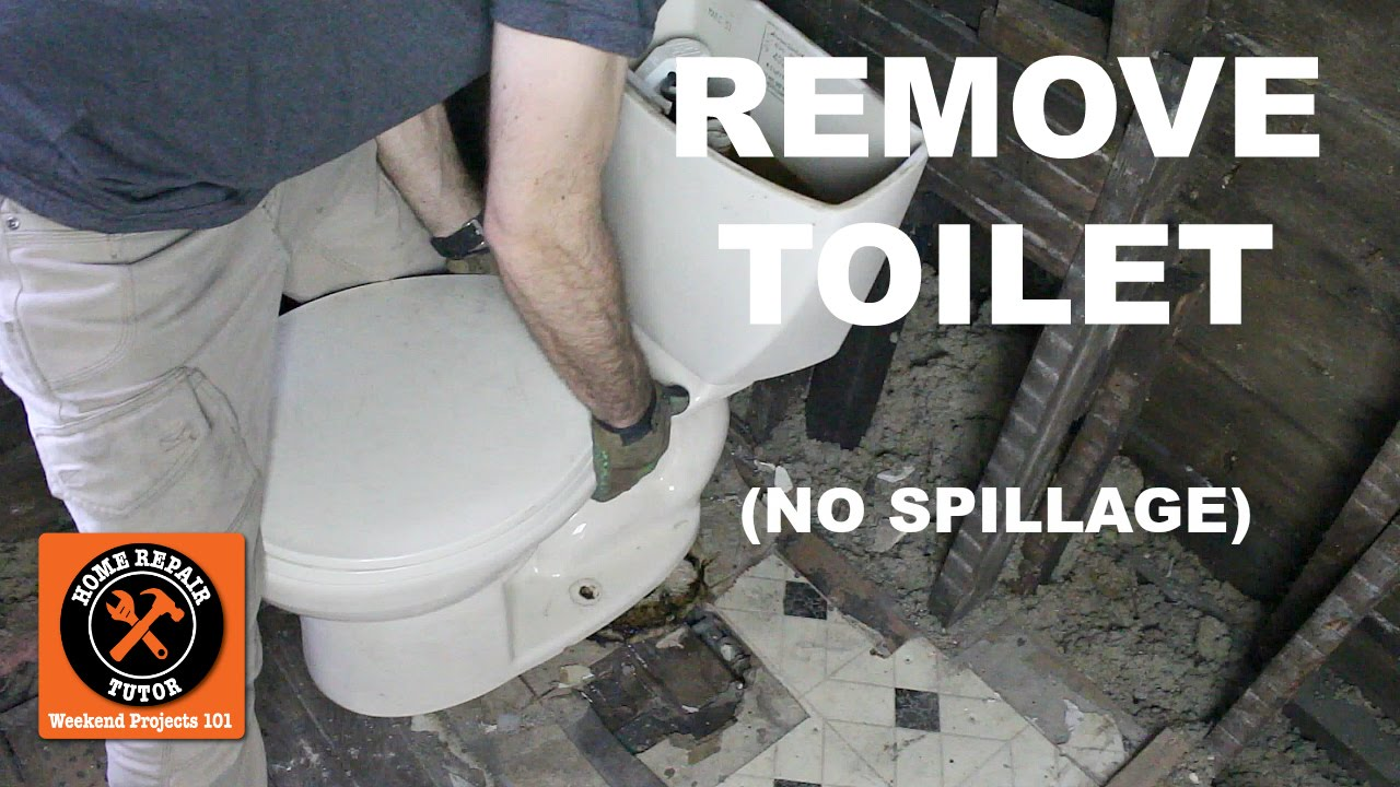 How to Remove a Toilet in a Bathroom Without Nasty Spillage (Step-by-Step)  -- by Home Repair Tutor