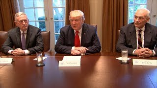 President Trump remarks to media during cabinet meeting