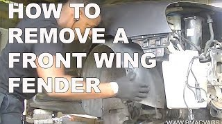 How to Remove a VW Golf Jetta front Wing Fender