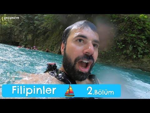12 Metre Şelaleden Atladık | Filipinler Kawasan Şelaleleri
