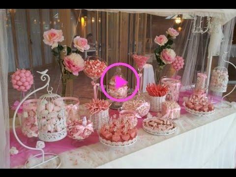 mesa de dulces o candy bar para xv a os de gala y