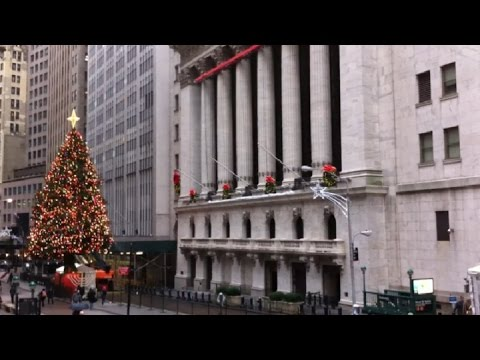 New York Stock Exchange Christmas Tree and Decorations
