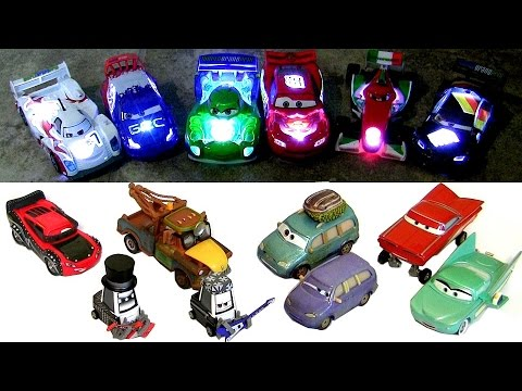 16 CARS 2 Diecasts NEON Light-up Chaser
