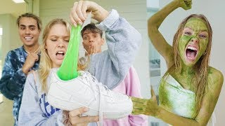 SLIME PRANKS ON GIRLFRIEND FOR 24 HOURS!