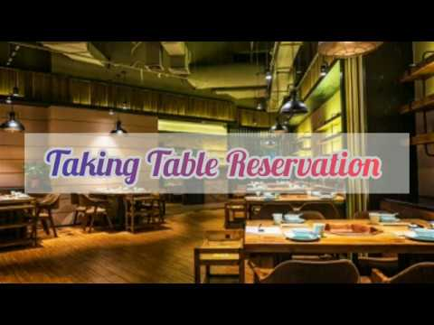Taking Table Reservation