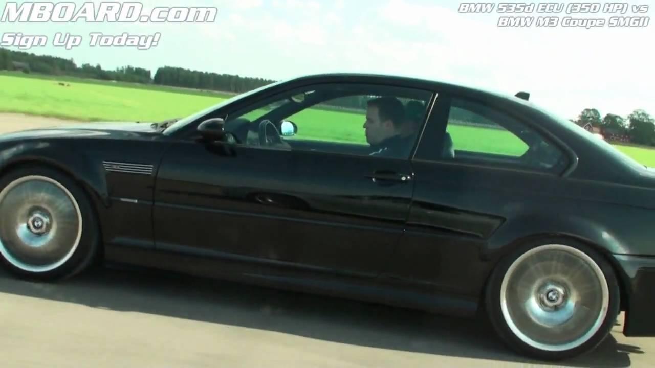 Hd Bmw 535d Ecu 350 Hp Vs Bmw M3 Coupe E46 Smgii