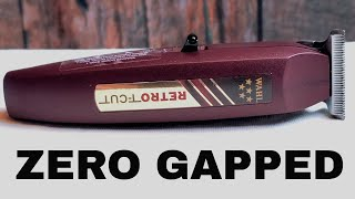 How To Zero Gap WAHL RETRO T-CUT  Cordless Trimmer