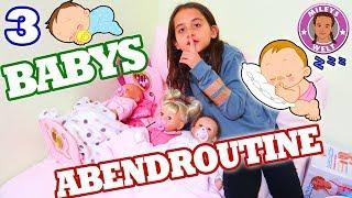 REBORN BABY ABENDROUTINE - 3 Babys eine PUPPENMAMA - Mileys Welt